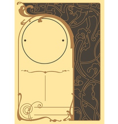 Art nouveau background and frame vector