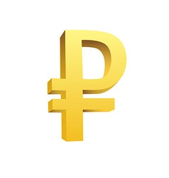 Golden currency symbol vector