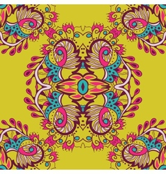 Abstract seamless pattern on yellow background vector