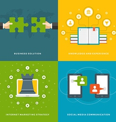 Website promotion banners templates and flat icons vector