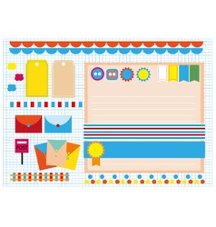 Colorful design scrapbook vector