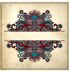 Ornamental floral pattern vector