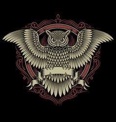 Owl crest vector