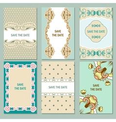Set of card templates vector