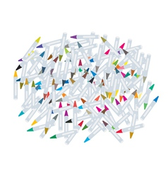 Group of wax crayons on white background vector