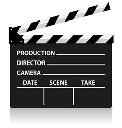 Chalkboard movie director slate vector