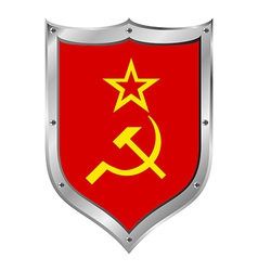 Ussr flag button vector