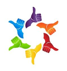 Thumb up hands vector