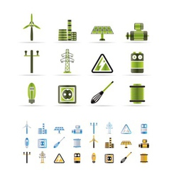 Electricity and power icons vector