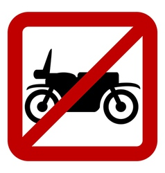 No motorcycle sign vector