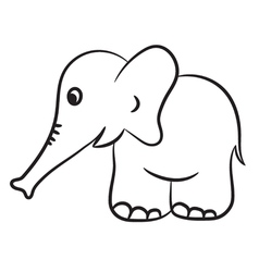 Elephant black and white vector