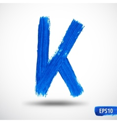 Alphabet letter k watercolor alphabet vector