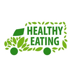 Logo delivery of healthy eating vector