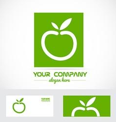 Green apple organic logo vector