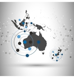 Australia map background  for communication vector