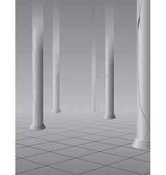 Foggy hall with columns vector
