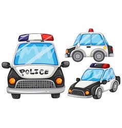 Police cars vector
