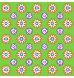 Spring decorative background with flowers vector