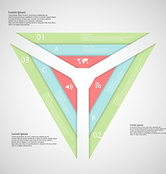 Triangle from three parts consists of three vector