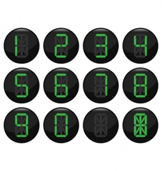 Digital number icons vector
