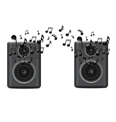Music speakers with melody vector