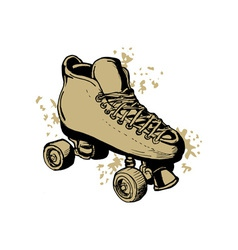 Derby roller skates isolated on white background vector