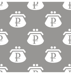 Rouble purse seamless pattern vector