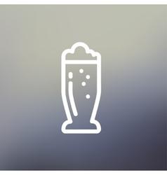 Mug of beer thin line icon vector
