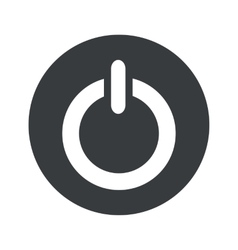 Monochrome round power icon vector