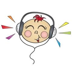 Happy music vector