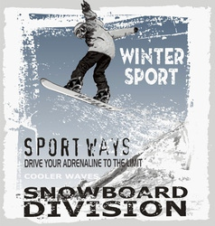 Snowboard jump hill vector