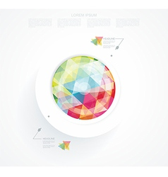 Business abstract circle icon vector