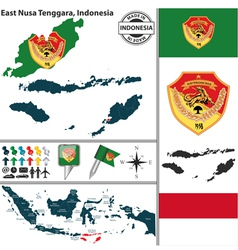 Map of east nusa tenggara vector