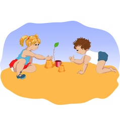Small children vector