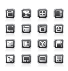 Home and office equipment icons vector