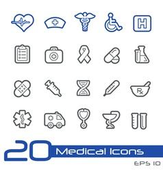 Medicine health care outline series vector