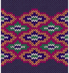 Knit woolen seamless background vector