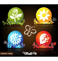 Seasons icons vector