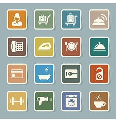 Hotel and travel icon set vector
