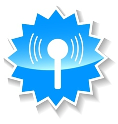 Connection blue icon vector