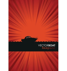Boat background vector