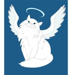 The cat of angelic nature vector