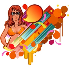 Colourful sunglasses design vector