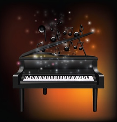 Piano with melody vector