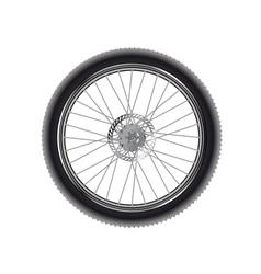 Mountain bike wheel vector