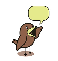 Talking bird 01 vector