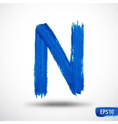 Alphabet letter n watercolor alphabet vector