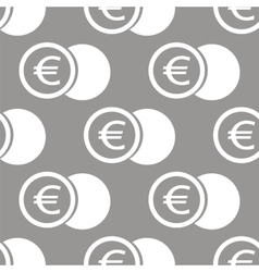 Euro coin seamless pattern vector