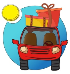 Traveling car vector