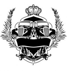 Old car crest vector